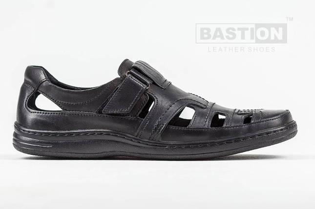 Мужские кожаные летние туфли Тrafic 030 ч., фото 2