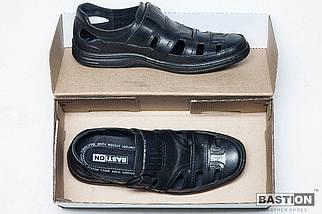 Мужские кожаные летние туфли Тrafic 030 ч., фото 3
