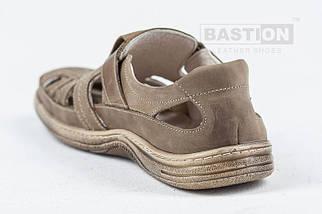 Мужские кожаные летние туфли, перфорация, KungFu beige    , фото 3