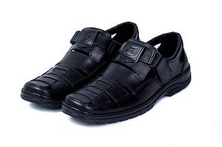 Мужские кожаные летние туфли Matador Black, фото 3