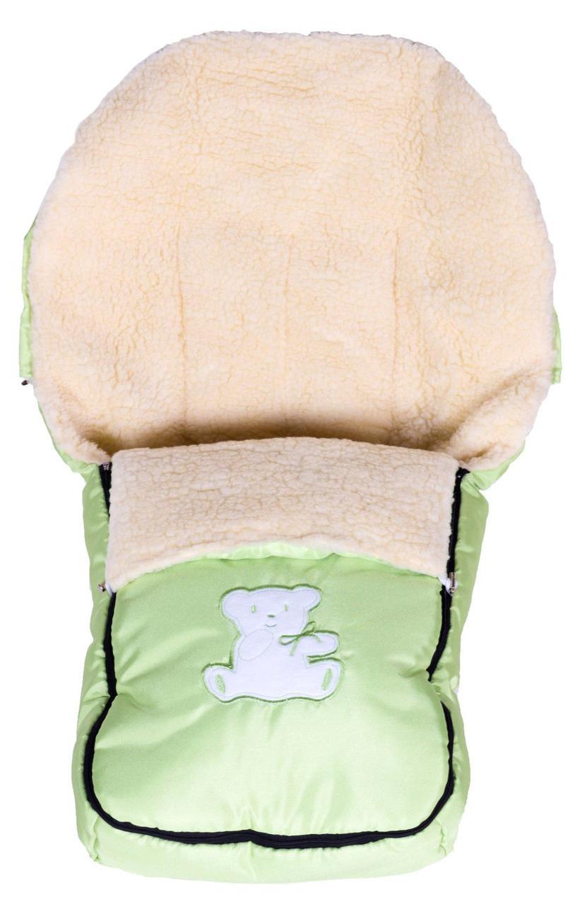 Зимний конверт Умка Мишка  салатовый (мишка сидит с бантиком)