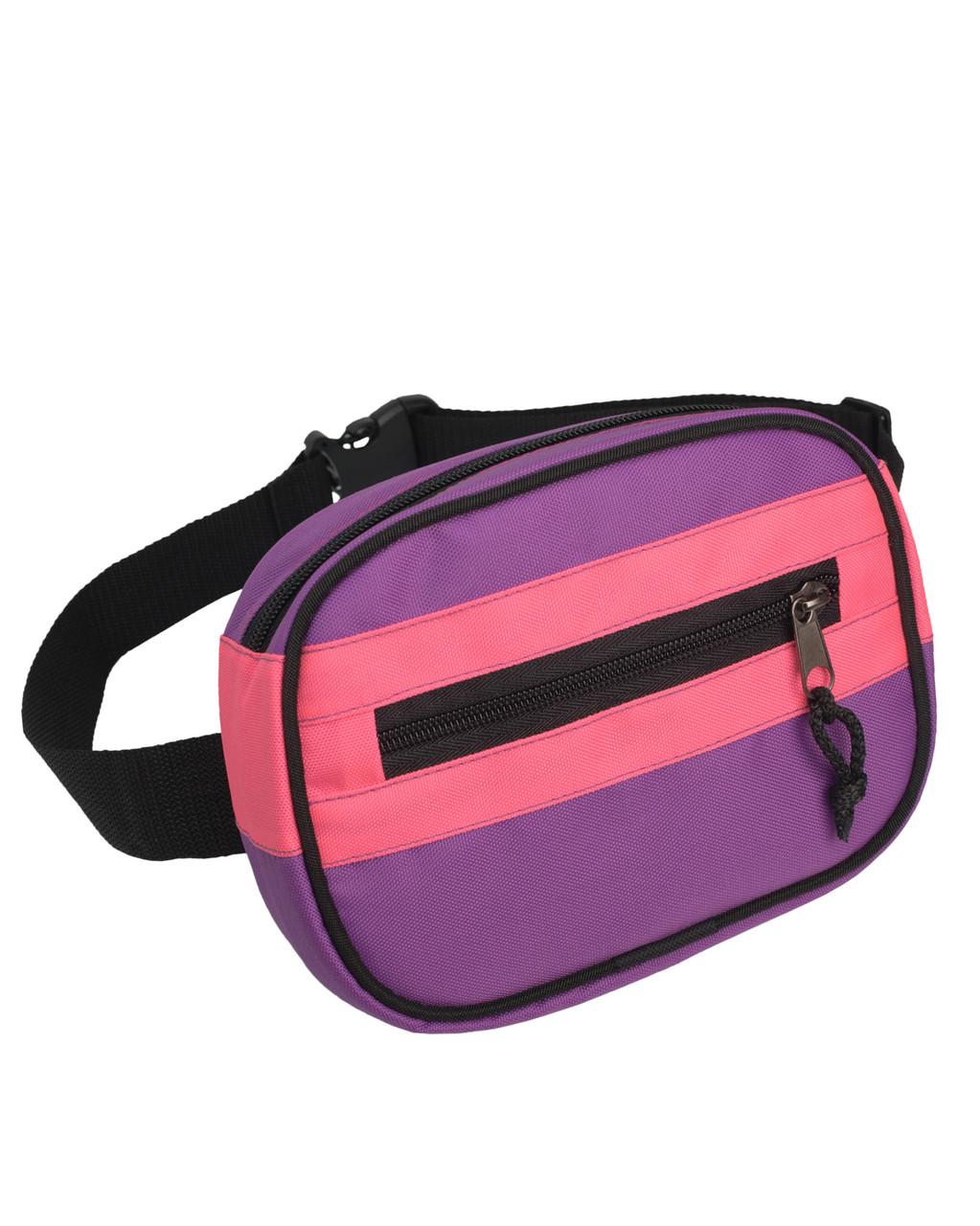 cea0430cca0a Поясная сумка бананка Kokos Surikat розовый/фиолетовый (сумка на пояс,