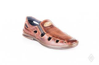 Мужские кожаные летние туфли Bastion 026 р., фото 2