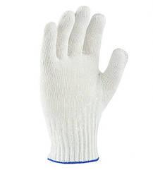 Перчатки Doloni трикотажные рабочие белые без ПВХ универсал 10 класс 876
