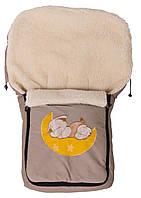 Зимний конверт Qvatro №8 с аппликацией  капучино (слон спит на месяце)