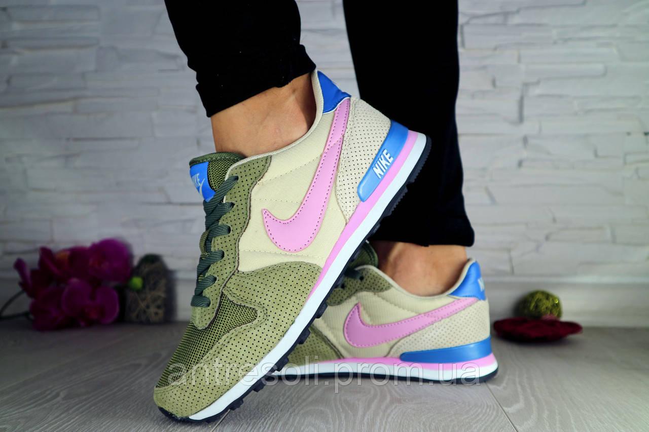 Женские Кроссовки Nike Хаки 10587