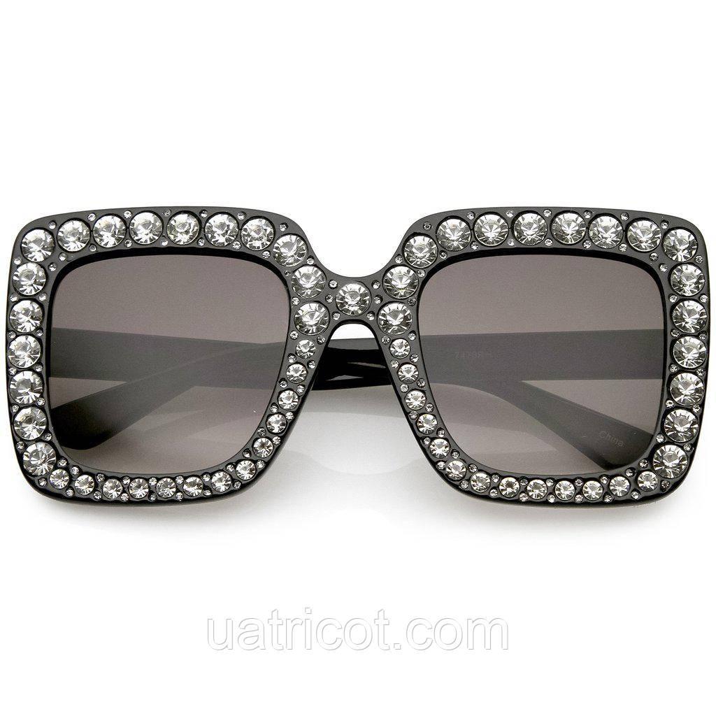 Женские дизайнерские солнцезащитные очки Премиум класса чёрные