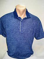Футболка-поло мужская FIBAK синяя меланж (2XL,4XL.5XL)