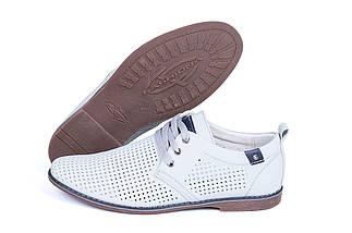 Мужские кожаные летние туфли, перфорация, KungFu grey, фото 2