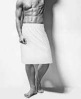 Парео мужское вафельное банное белое, Saunapro, фото 1