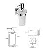 BEMETA BETA: Настенный дозатор для жидкого мыла, фото 2