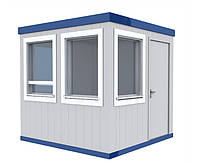Домик для охраны металлический   Изготовление модульных будок охраны   Цена производителя бытовок для охраны, фото 1