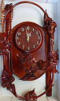 Часы из натуральной кожии бамбука-Спираль