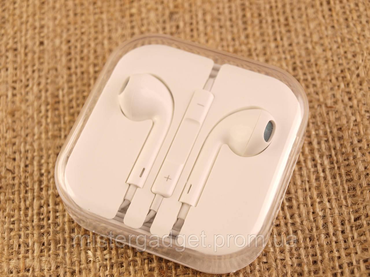 Наушники для iPHONE 5 и 6 IP WHITE с микрофоном