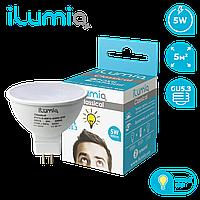 Светодиодная лампа Ilumia рефлектор 5Вт, цоколь GU5.3, 3000К (теплый белый), 500Лм (017)