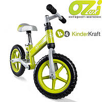 Металлический беговел с амортизатором KinderKraft Evo (зеленый)