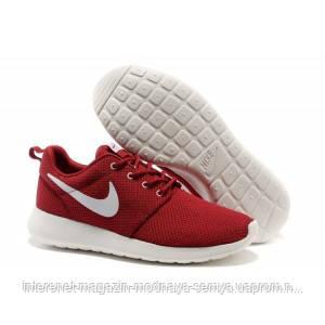 70af1ac1 Женские бордовые кроссовки Найк РАН Nike Roshe Run - интернет-магазин
