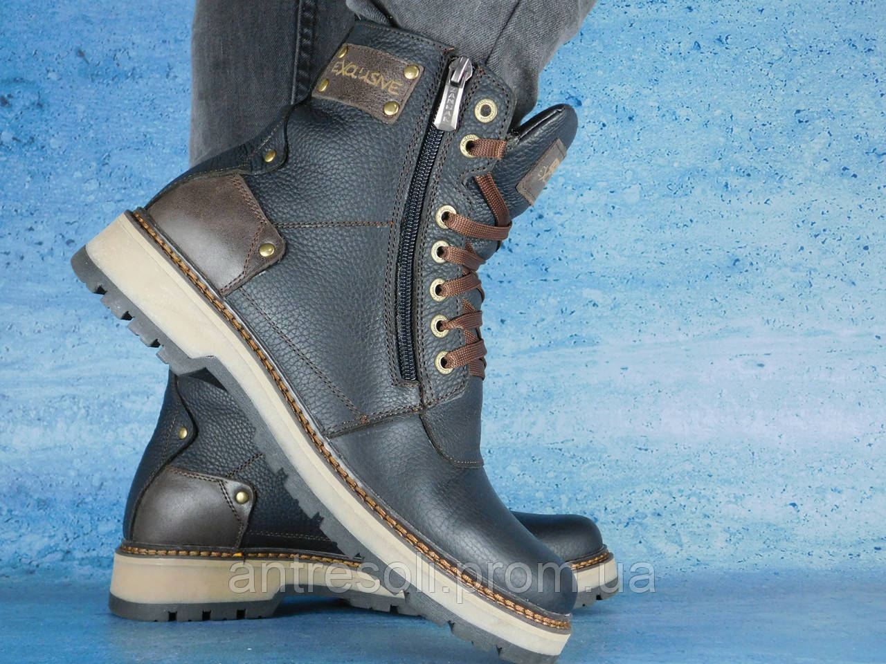 Мужские зимние ботинки Zangak Exclusive Черный 10543  1 150 грн ... 9a3e56b400184