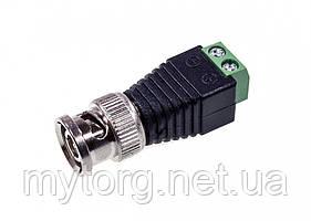 Универсальный BNС разъем-адаптер Male to 2 pin XR-AC24