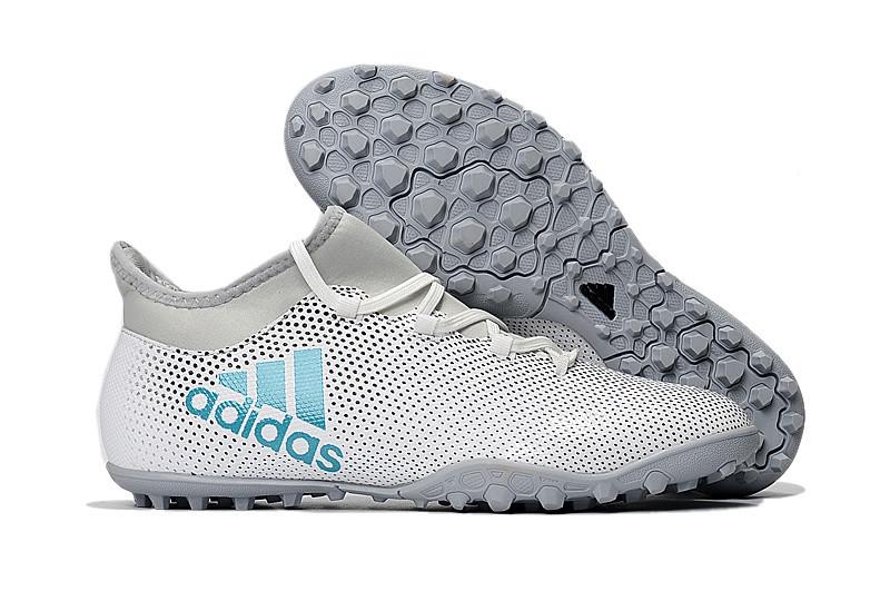 Мужские бутсы сороконожки adidas X Tango 17.3 TF grey white