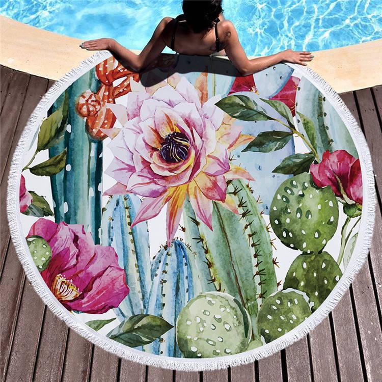 Круглое покрывало-полотенце 20020