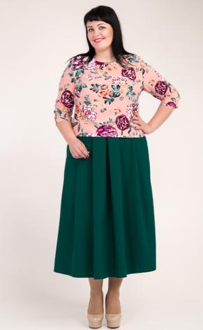 """Костюм """"Рената"""" юбка и кофта большой размер, фото 2"""