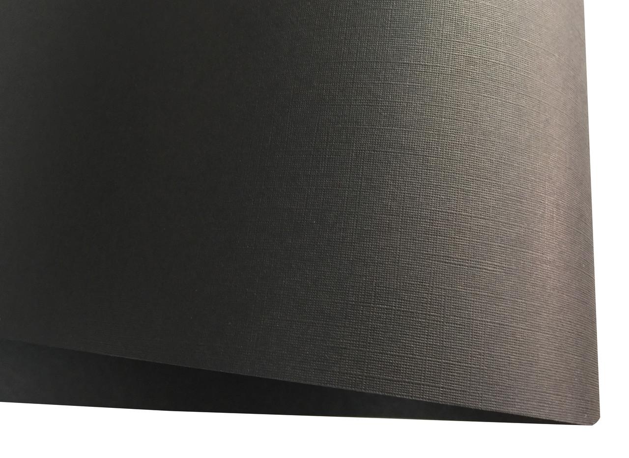 Дизайнерский картон Vivaldi Black Re с тиснением лен, черный, 270 гр/м2