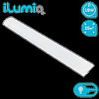 Светодиодный линейный светильник Ilumia 18Вт, 600мм, 4000К (нейтральный белый), 1500Лм (092)