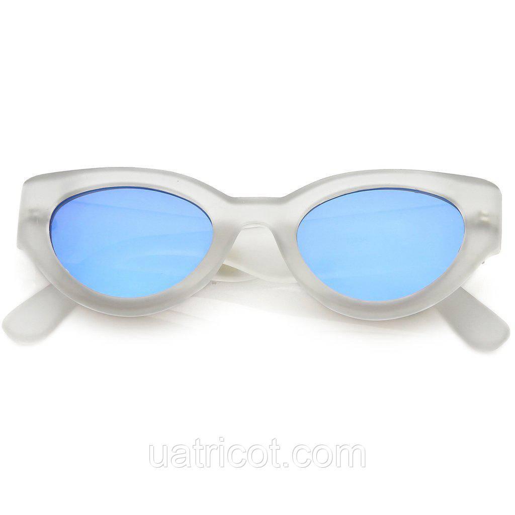 Женские солнцезащитные очки Сat eye с голубой линзой
