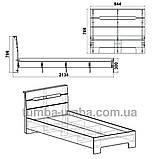 Кровать Стиль-90 односпальная модульная, фото 2