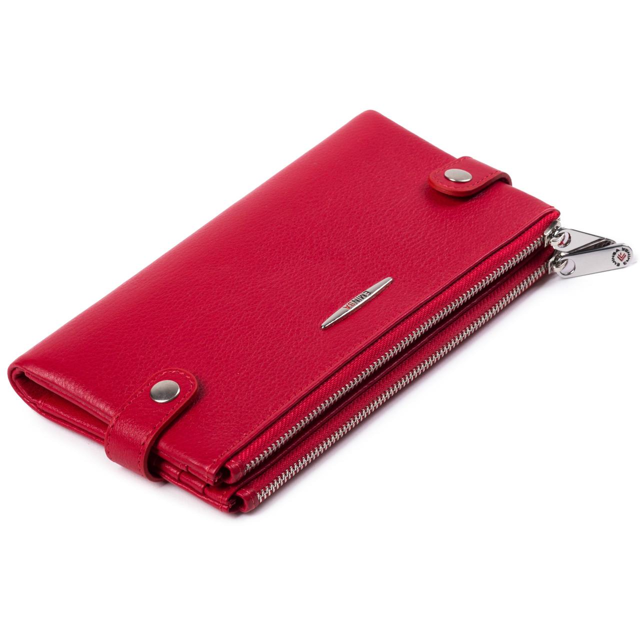 Женский кошелек  кожаный красный Eminsa 2117-12-5