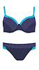 Купальник Self  темно-синий с голубым кантом p.40/75Е