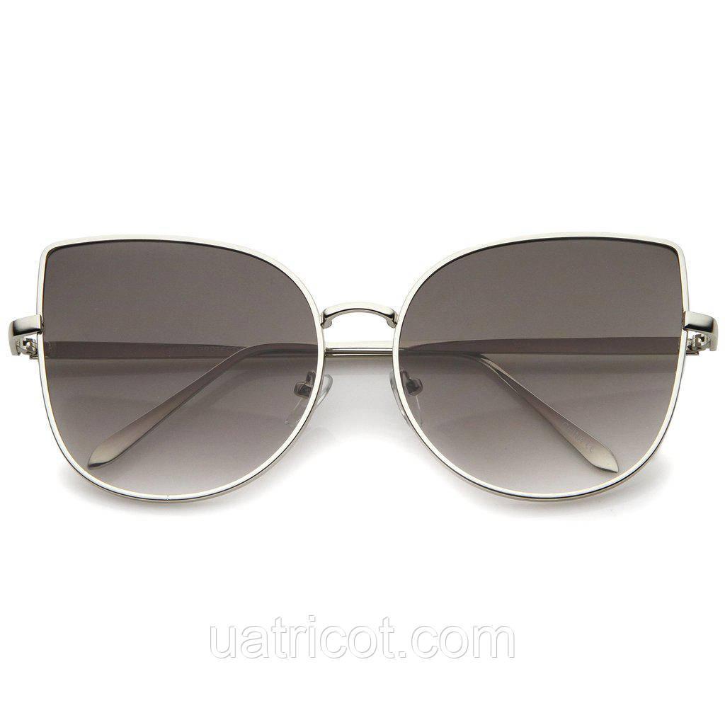 Женские солнцезащитные очки Oversize с лавандовой линзой