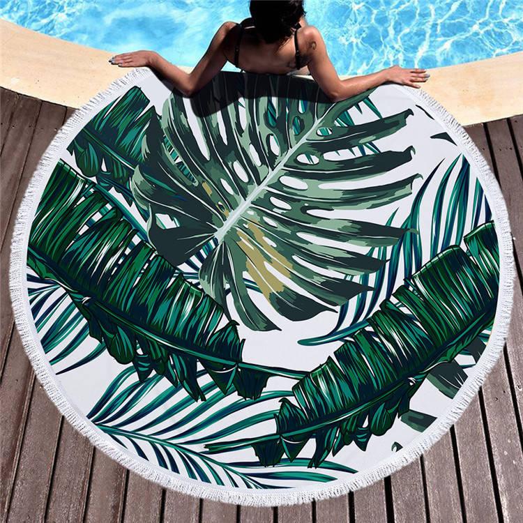 Круглое покрывало-полотенце 20025