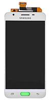 Дисплей (экран) для Samsung G570 Galaxy On5 (2016), G570F, DS Galaxy J5 Prime + тачскрин, белый, оригинал