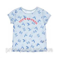 Подростковая футболка с принтом Lets be free, C&A р.146-152, 158-164