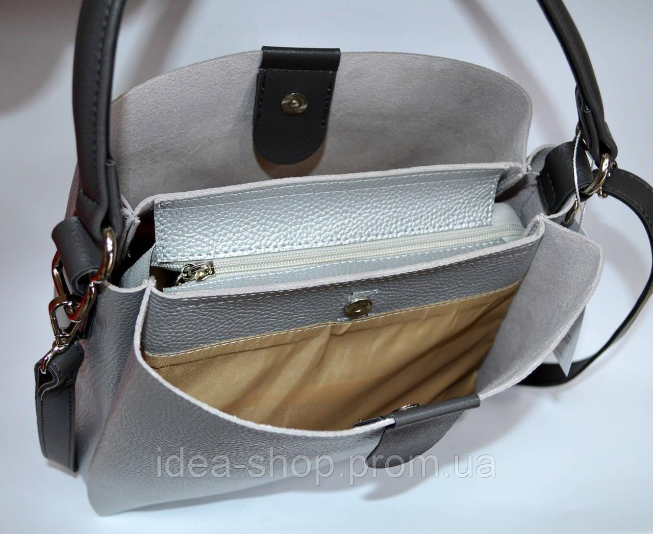 be95e07c760a Стильная сумка шоппер цвет серебро производство украина, цена 595 грн.,  купить в Харькове — Prom.ua (ID#694192148)