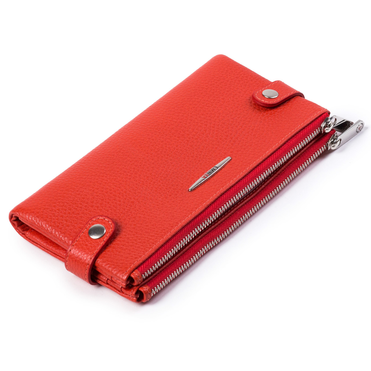 Женский кошелек  кожаный оранжевый Eminsa 2117-18-26