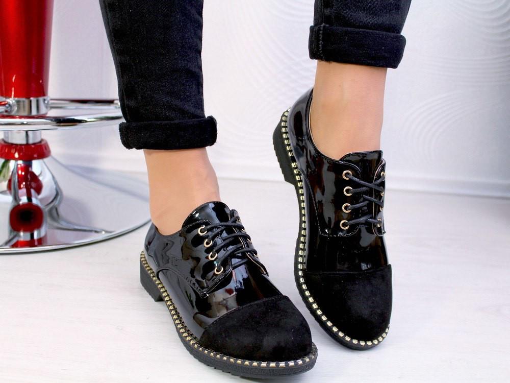 Новые лаковые туфли с замшевым носком - Интернет-магазин женской обуви в  Ровно 964410cda9c29