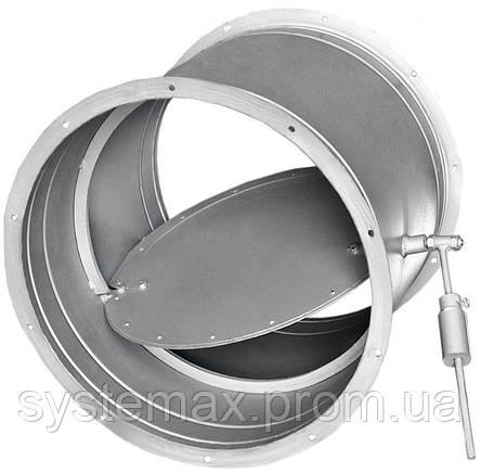 Заслонка круглая АЗД 133.000-03 (Ø 400мм) с ручным приводом, фото 2