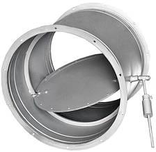 Заслонка круглая АЗД с ручным приводом