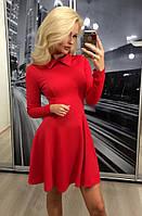 Коктейльное платье с длинным рукавом ft-283 красное