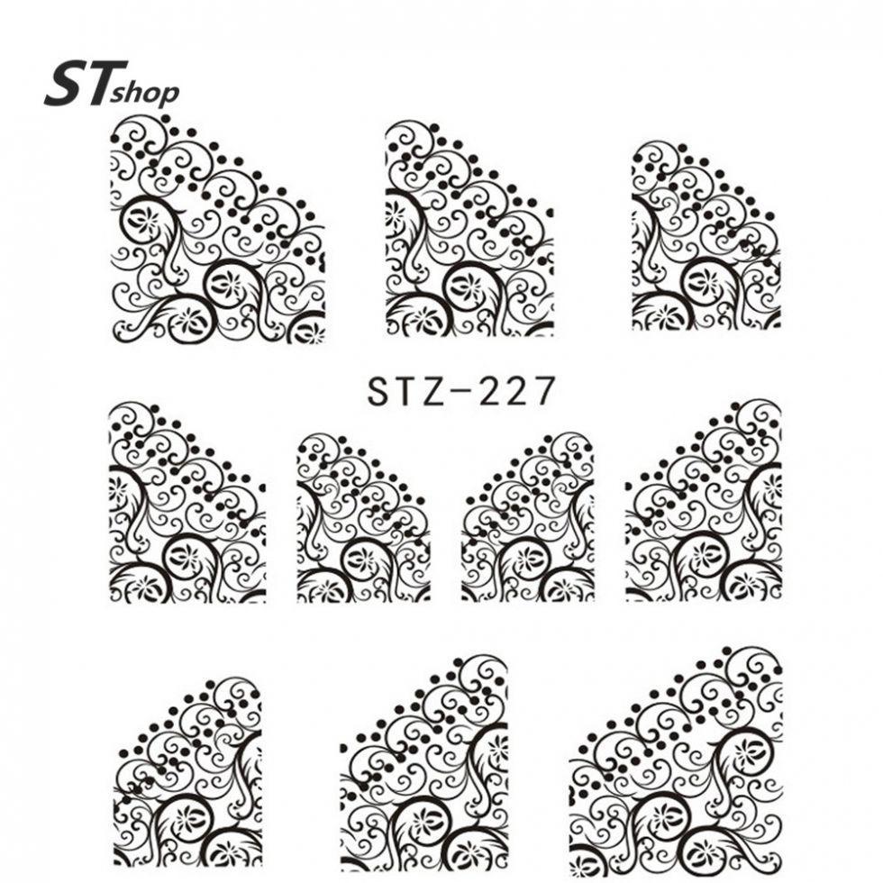 Наклейки для ногтей STZ-227