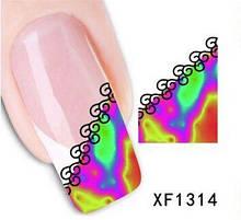 Наклейки для ногтей XF1314