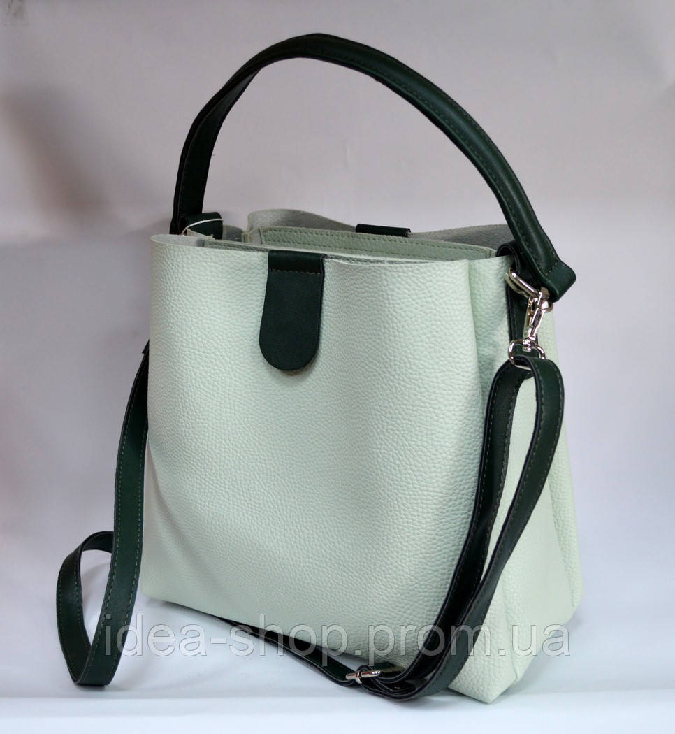 3990b046ea29 Модная сумка шоппер цвет мята производство украина - интернет-магазин