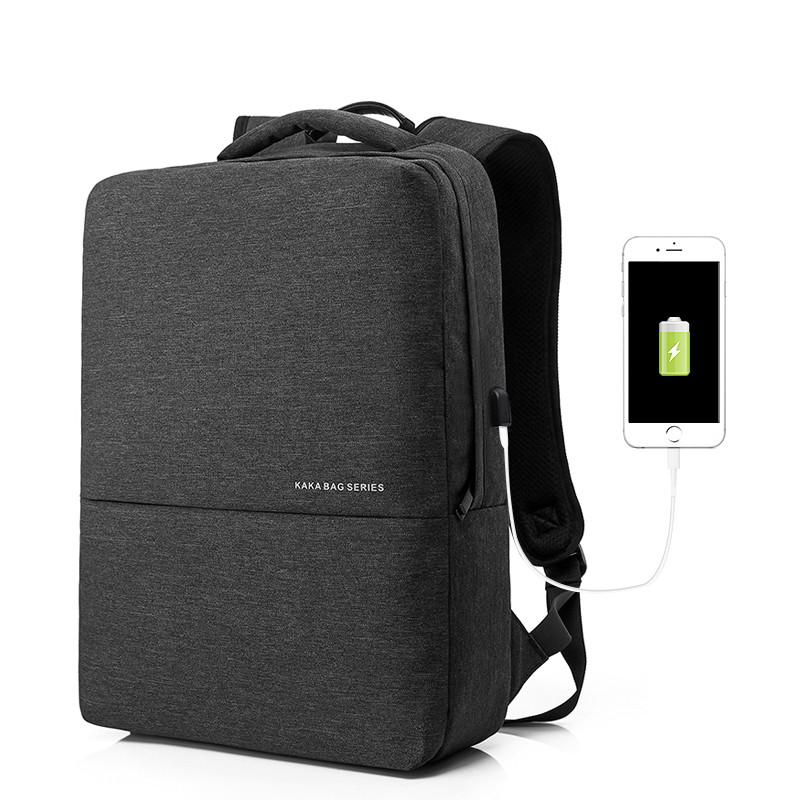Городской рюкзак для ноутбука 15.6 Kaka темно-серый