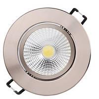 LED Светильник точечный COB HOROZ ELECTRIC (круг) бронза LILYA-3 HL698LE 3W 4200K 222Lm металл d-83мм