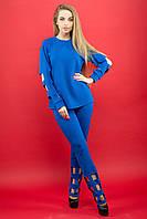 Женский модный молодежный спортивный костюм  Блер / цвет электрик / размер 46,54