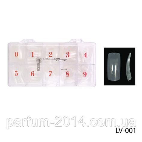 Ногти LV 001  (по 500 шт) прозрачные, фото 2