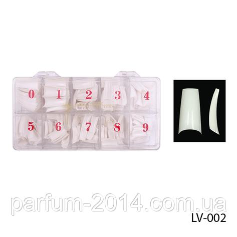 Белые универсальные эластичные классические типсы ногти с полной контактной зоной, 500 шт, фото 2
